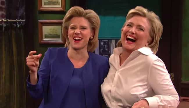 Hillary Clinton is listed (or ranked) 4 on the list Political Figures Share What They Really Thought Of SNL's Impressions Of Them