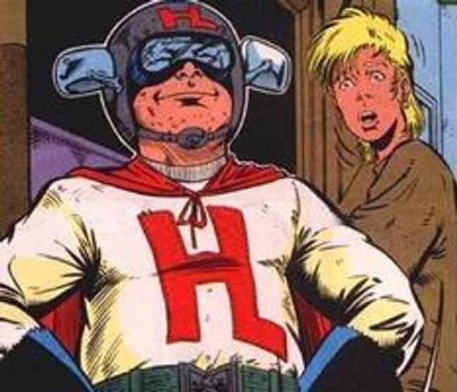 Hindsight is listed (or ranked) 4 on the list The 30 Most Ridiculous Comic Book Characters Ever