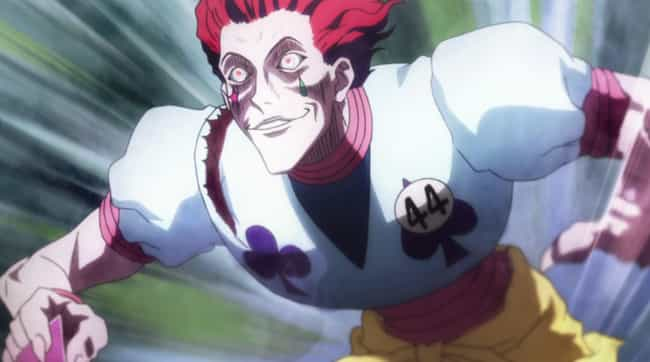 Hisoka is listed (or ranked) 3 on the list 14 Anime Characters Who Should Probably Be In Prison For Life