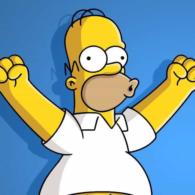 Homer Simpson is listed (or ranked) 4 on the list 20 Characters Whose Body Proportions Would Probably Kill Them
