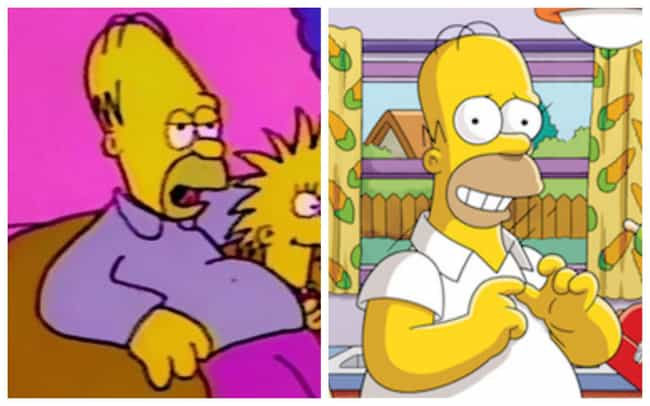 Homer Simpson is listed (or ranked) 1 on the list How The Simpsons Evolved Over Time