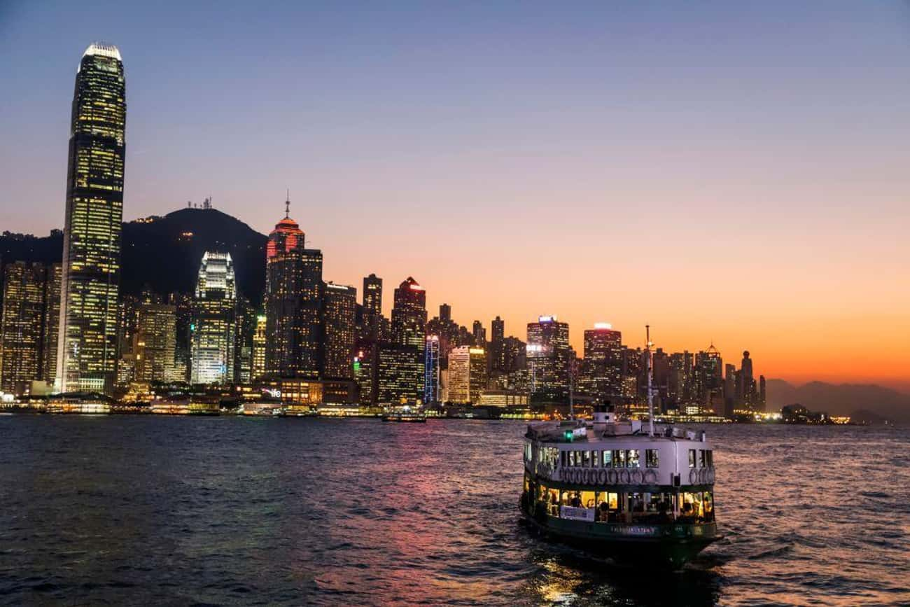 Hong Kong is listed (or ranked) 1 on the list The Most Beautiful Skylines in the World