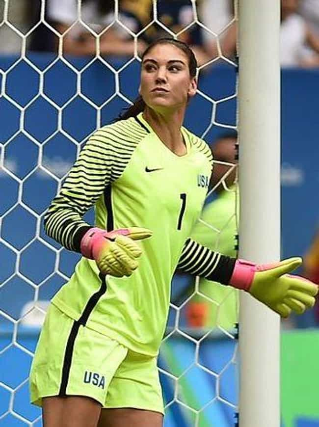 Hope Solo is listed (or ranked) 3 on the list Female Athletes Caught Doping