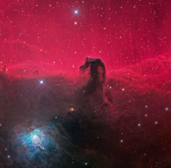 """Horsehead Nebula is listed (or ranked) 2 on the list Incredible Images Of Emission Nebulae, The """"Rainbows"""" Of Outer Space"""