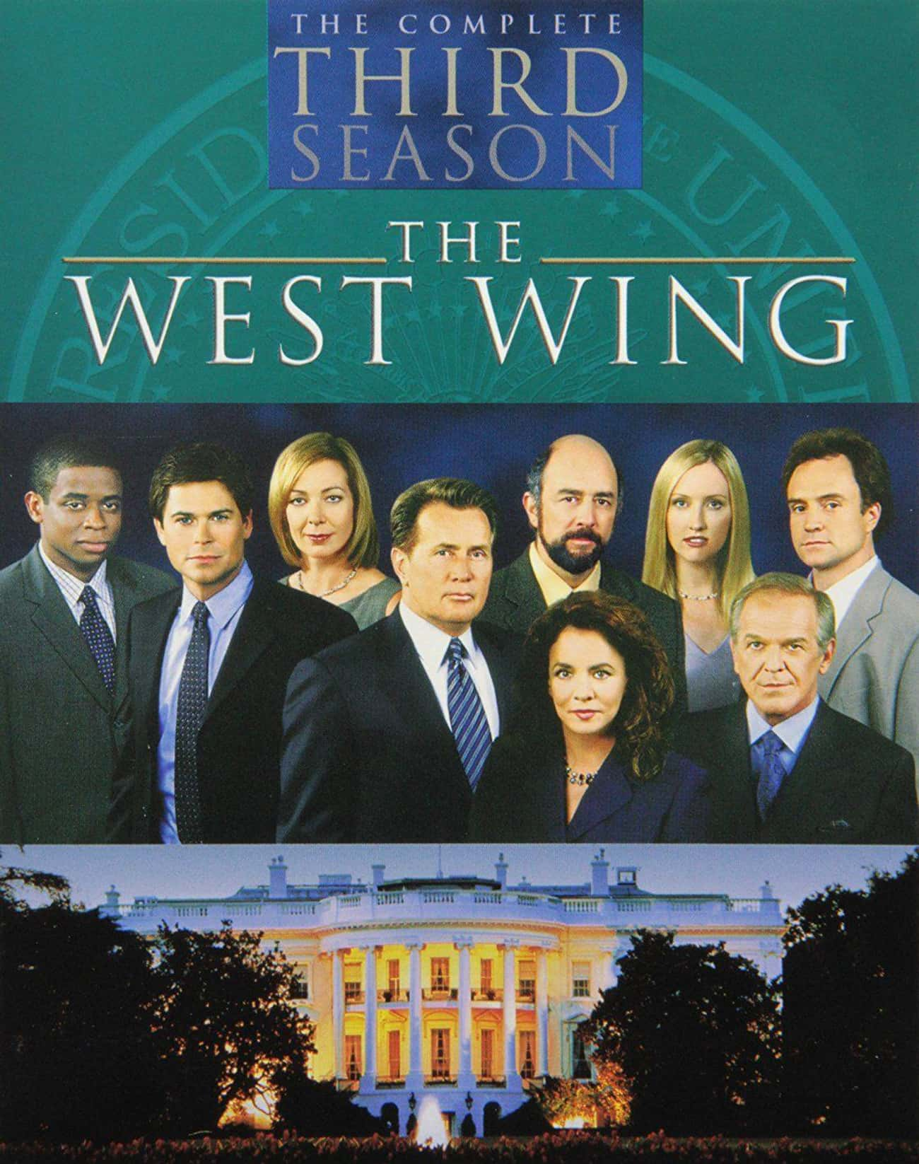 The West Wing - Season 3 is listed (or ranked) 3 on the list Ranking the Best Seasons of 'The West Wing'