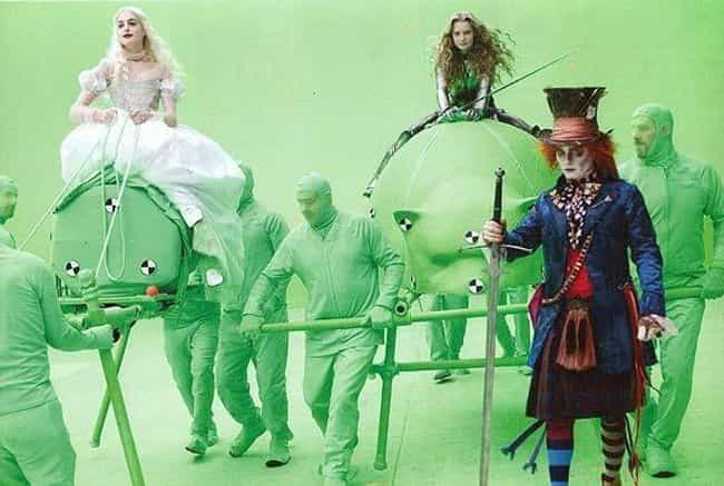 Alice in Wonderland is listed (or ranked) 4 on the list 15 Hilarious Photos Of Actors Pretending To Interact With CGI