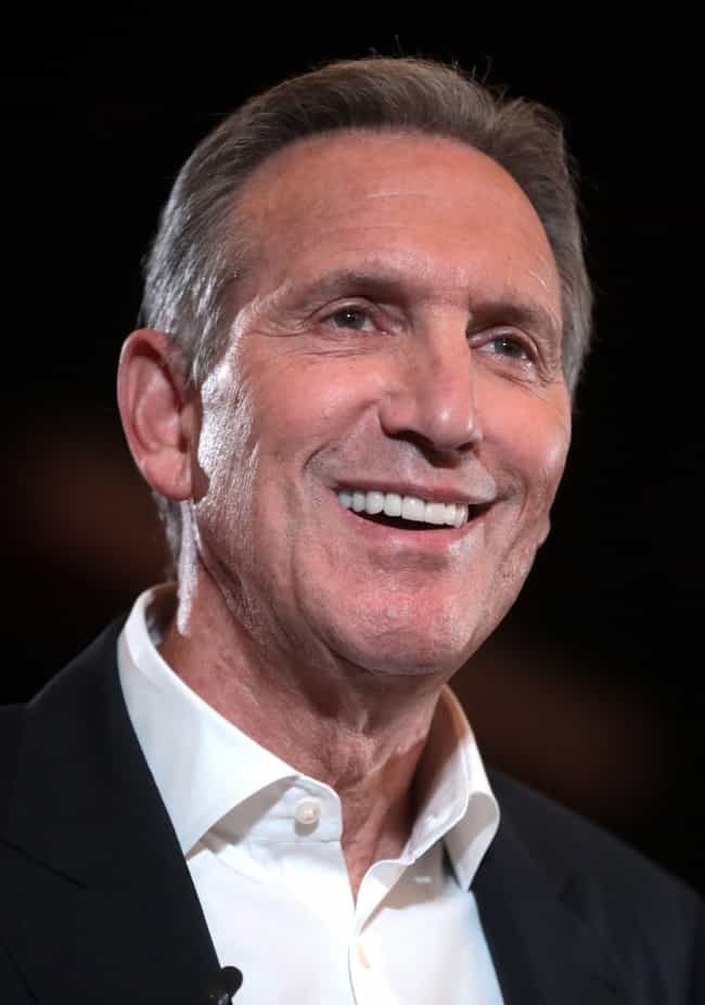 Howard Schultz is listed (or ranked) 1 on the list The Best 2020 Independent Candidates