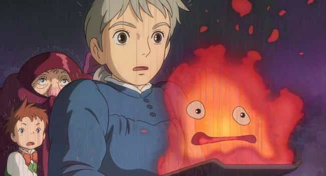 Howl's Moving Castle is listed (or ranked) 2 on the list 20 Anime Without Fanservice You Can Comfortably Watch In Public