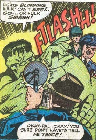 """HULK SMASH!"" is listed (or ranked) 2 on the list The Best Superhero Catchphrases in Comics"