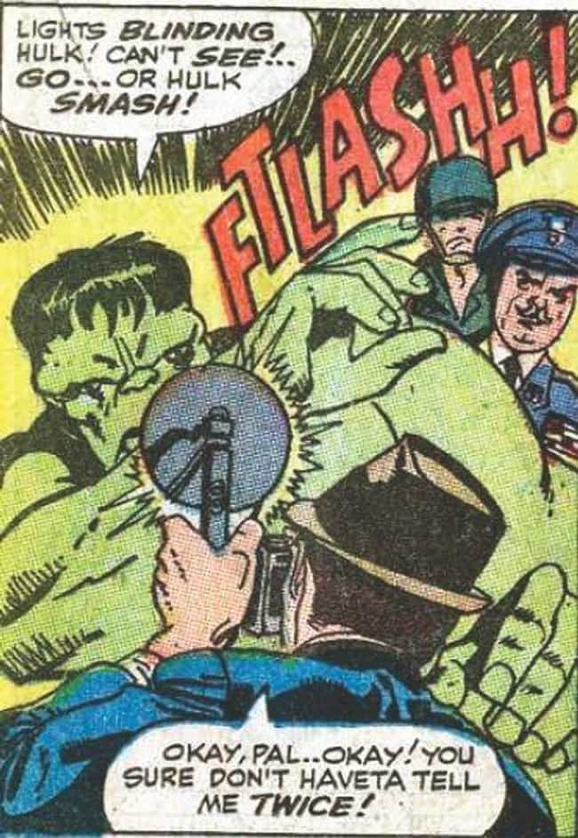 Hulk is listed (or ranked) 1 on the list The Best Superhero Catchphrases in Comics