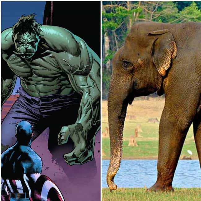Hulk is listed (or ranked) 1 on the list 15 Pictures That Put The Enormous Marvel Characters In Perspective