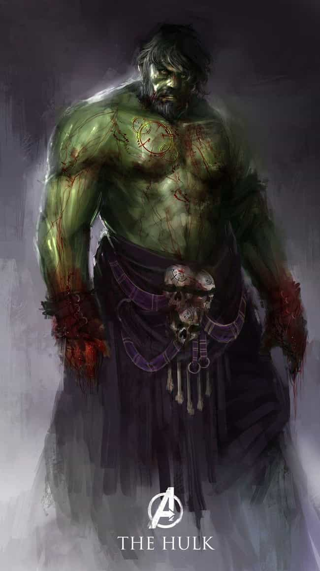 Hulk is listed (or ranked) 4 on the list What The Avengers Would Look Like In Medieval Times