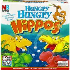 Hungry Hungry Hippos is listed (or ranked) 19 on the list The Best Board Games for Kids 7-12