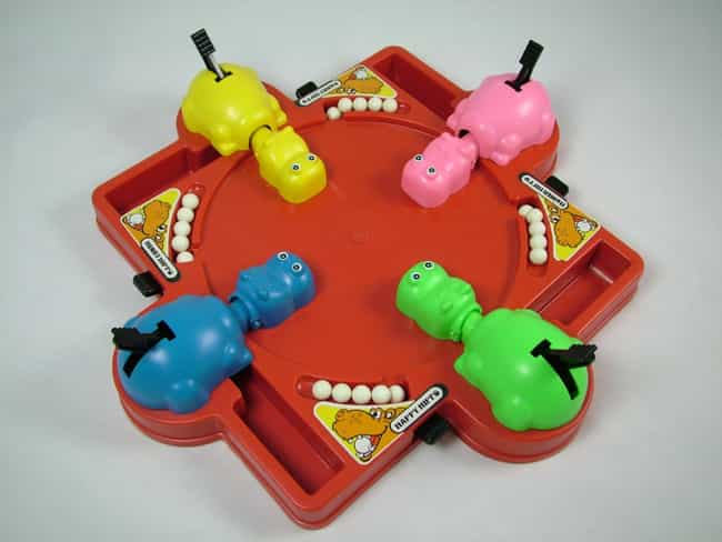 Hungry Hungry Hippos is listed (or ranked) 1 on the list 23 Annoying Toys That Prove Your Parents Loved You
