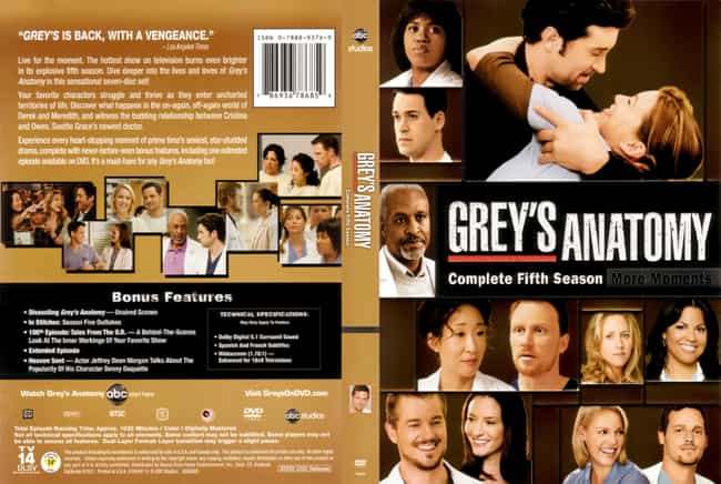 Grey's Anatomy Season 5 is listed (or ranked) 4 on the list The Best Seasons of Grey's Anatomy