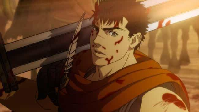 Guts is listed (or ranked) 1 on the list The 15 Most Badass Anime Protagonists of All Time