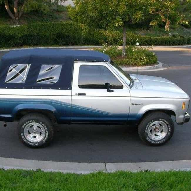 1987 Ford Bronco II SUV ... is listed (or ranked) 4 on the list List of 1987 Fords