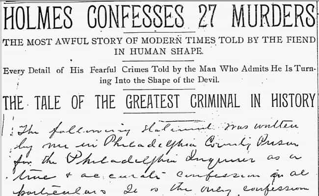 H. H. Holmes is listed (or ranked) 3 on the list The Most Insane Letters From Serial Killers