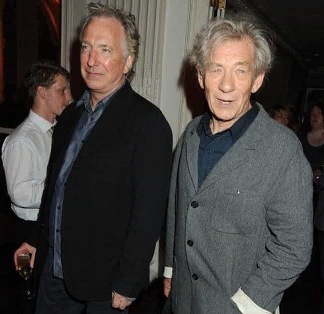Ian McKellen is listed (or ranked) 1 on the list Stars React to Alan Rickman's Death