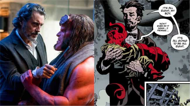 Ian McShane is listed (or ranked) 1 on the list 'Hellboy' Actors Vs. The Comics Characters They're Playing