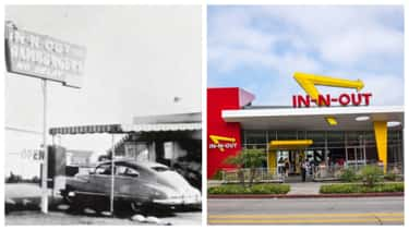 In-N-Out Burger, 1948 Vs. 2018 is listed (or ranked) 2 on the list Here's What Popular Fast Food Chains Looked Like When They Debuted