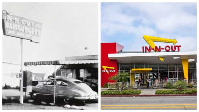 In-N-Out Burger is listed (or ranked) 2 on the list Here's What Popular Fast Food Chains Looked Like When They Debuted