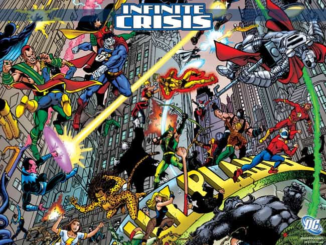 Infinite Crisis is listed (or ranked) 4 on the list The Best DC Crossover Events