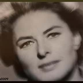 Ingrid Bergman is listed (or ranked) 18 on the list The Greatest Actors & Actresses in Entertainment History