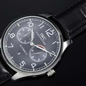 IWC is listed (or ranked) 5 on the list The Best Watch Brands