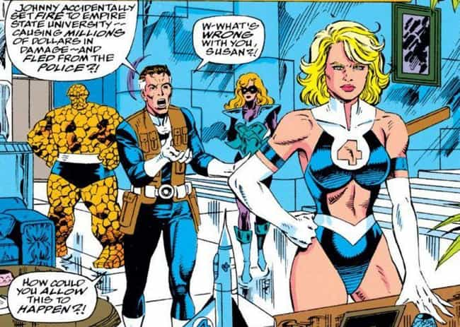 Invisible Woman is listed (or ranked) 2 on the list The Most Egregious Alternate Costumes In Comic Book History