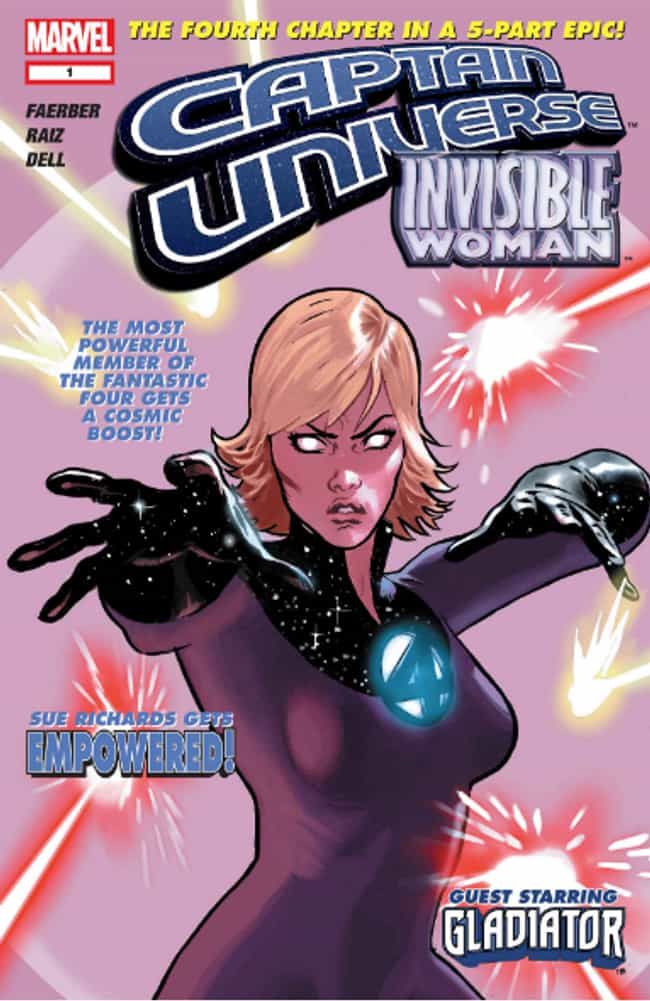 Invisible Woman is listed (or ranked) 4 on the list 12 Female Comics Characters Who Are Smarter Than You