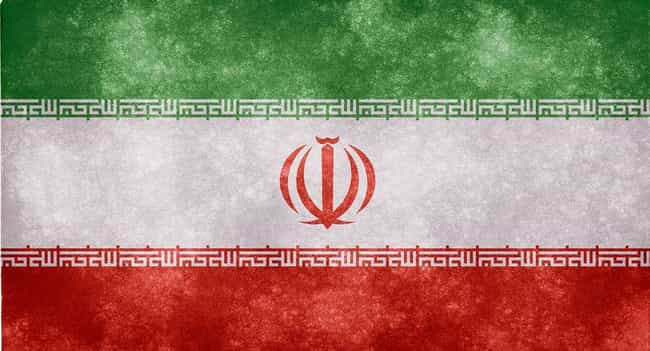 Iran is listed (or ranked) 4 on the list Countries of the Middle East