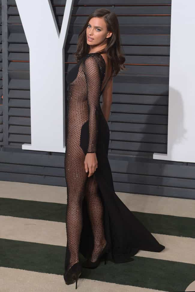 Irina Shayk is listed (or ranked) 4 on the list The Most Shockingly Over-the-Top Celebrity Sheer Dresses
