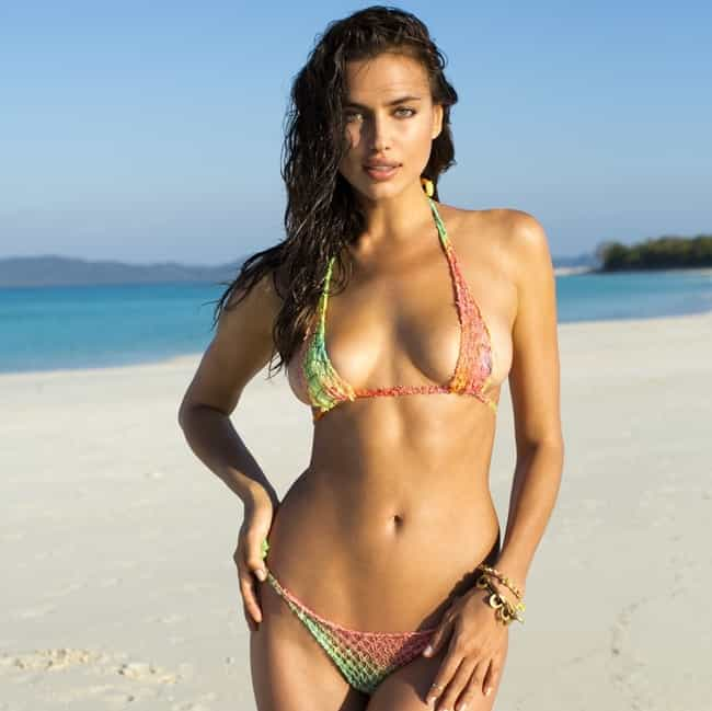 Irina Shayk is listed (or ranked) 4 on the list Hot Bikini Pics From the 2014 SI Swimsuit Models Edition