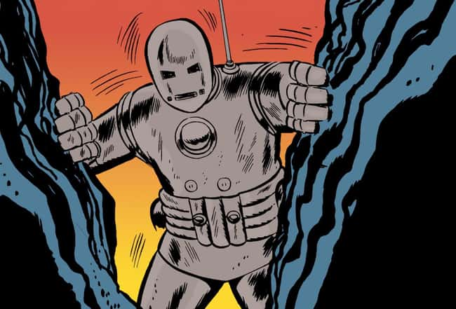 3. The design of Iron Man's first suit was not comfortable. The suit appeared to be an enormous grey mass of metal. It resembles an iron lung more than an Iron Man.