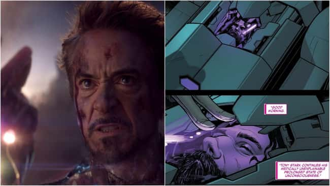 """9. """"Bio-structuring"""" pod was used to reassemble Stark's body after his death on Tony's own posthumous orders; any brain damage was filled in using an artificial backup of Stark's mind."""