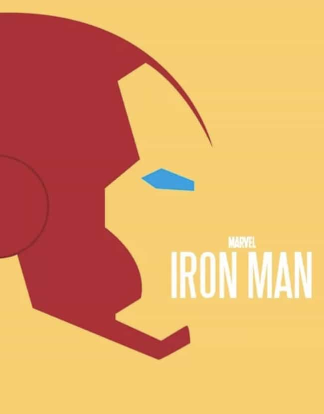 Iron Man is listed (or ranked) 2 on the list Minimalist Movie Posters For True Film Nerds