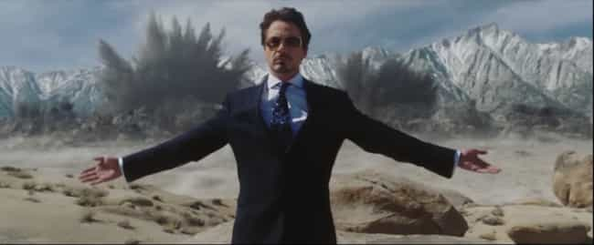 Iron Man is listed (or ranked) 2 on the list The Most Badass Walk-Away-From-Explosion Moments In Film, Ranked