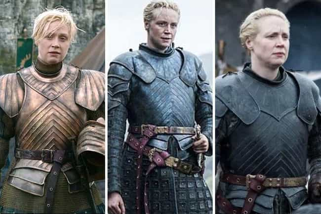 Brienne of Tarth is listed (or ranked) 4 on the list All The Main GoT Character Arcs, Ranked