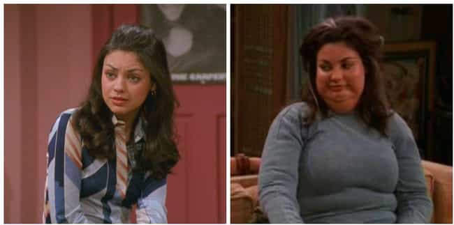 Jackie Burkhart is listed (or ranked) 3 on the list The Most Over-The-Top Celebrity Fat Suits Ever Worn In TV And Movie History