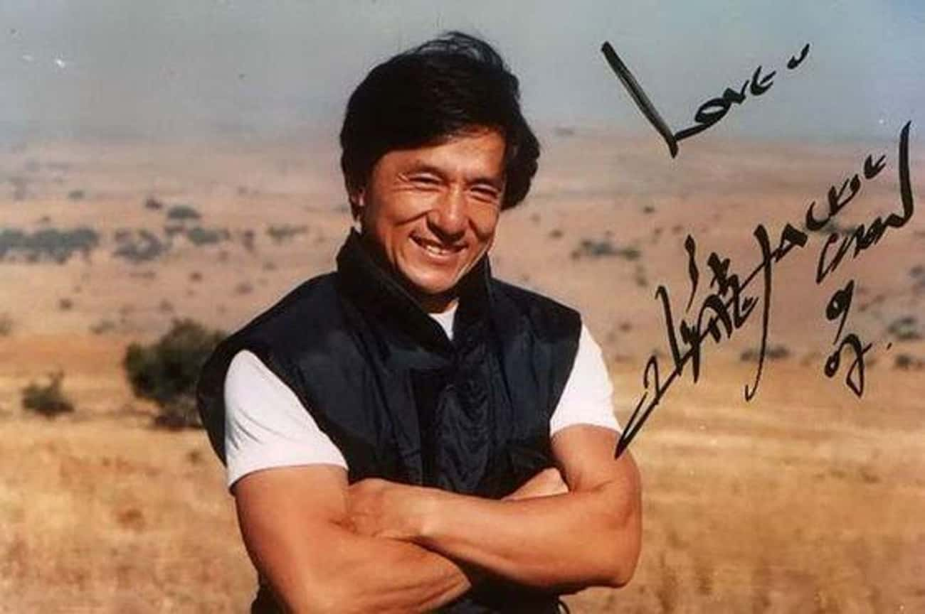 Jackie Chan is listed (or ranked) 3 on the list The Coolest Celebrity Autographs