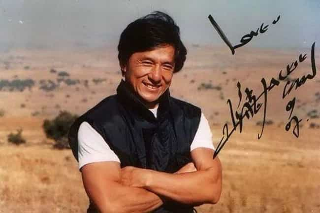 Jackie Chan is listed (or ranked) 4 on the list The Coolest Celebrity Autographs
