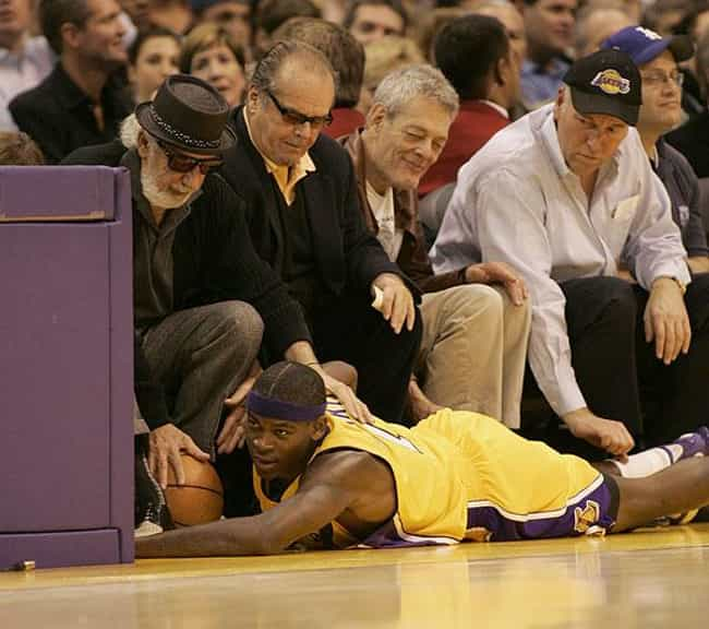 Jack Nicholson is listed (or ranked) 3 on the list Celebrity Lakers Fans