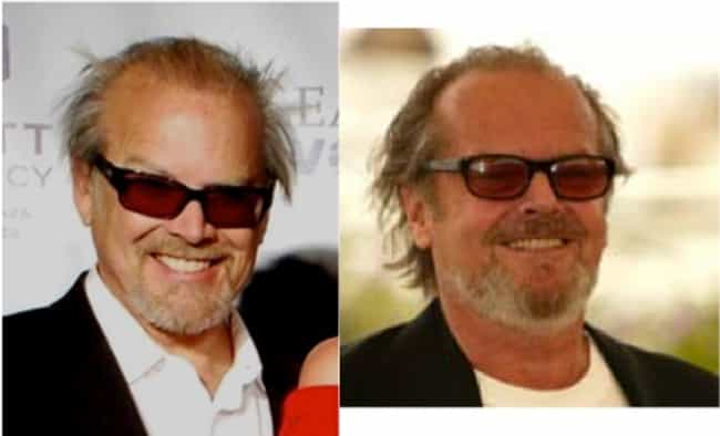 Jack Nicholson is listed (or ranked) 4 on the list 40 Uncanny Celebrity Lookalikes That Are Hard to Believe