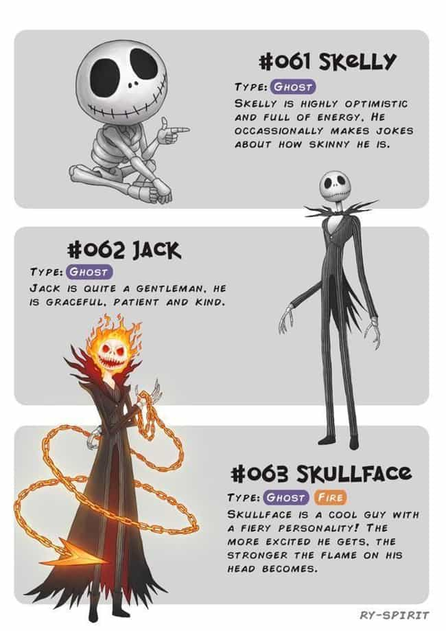 Jack Skellington is listed (or ranked) 2 on the list This Artist Turns Disney Characters Into Pokemon Evolutions