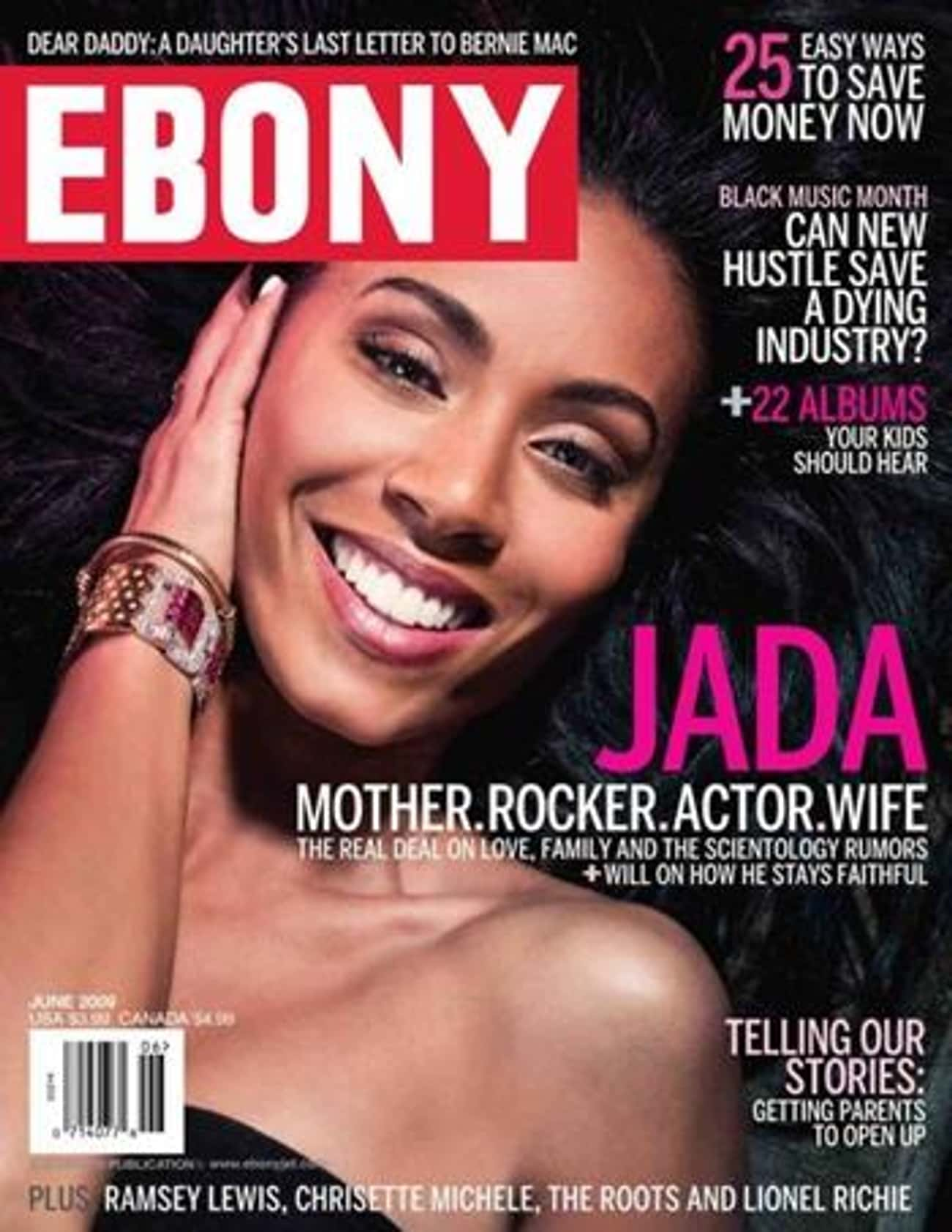 Jada Pinkett Smith is listed (or ranked) 4 on the list The Best Ebony Covers