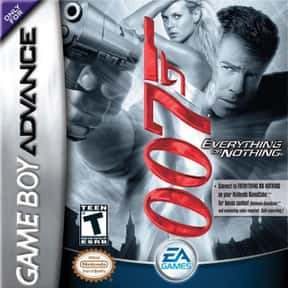 James Bond 007: Everything or  is listed (or ranked) 3 on the list The Best James Bond Games