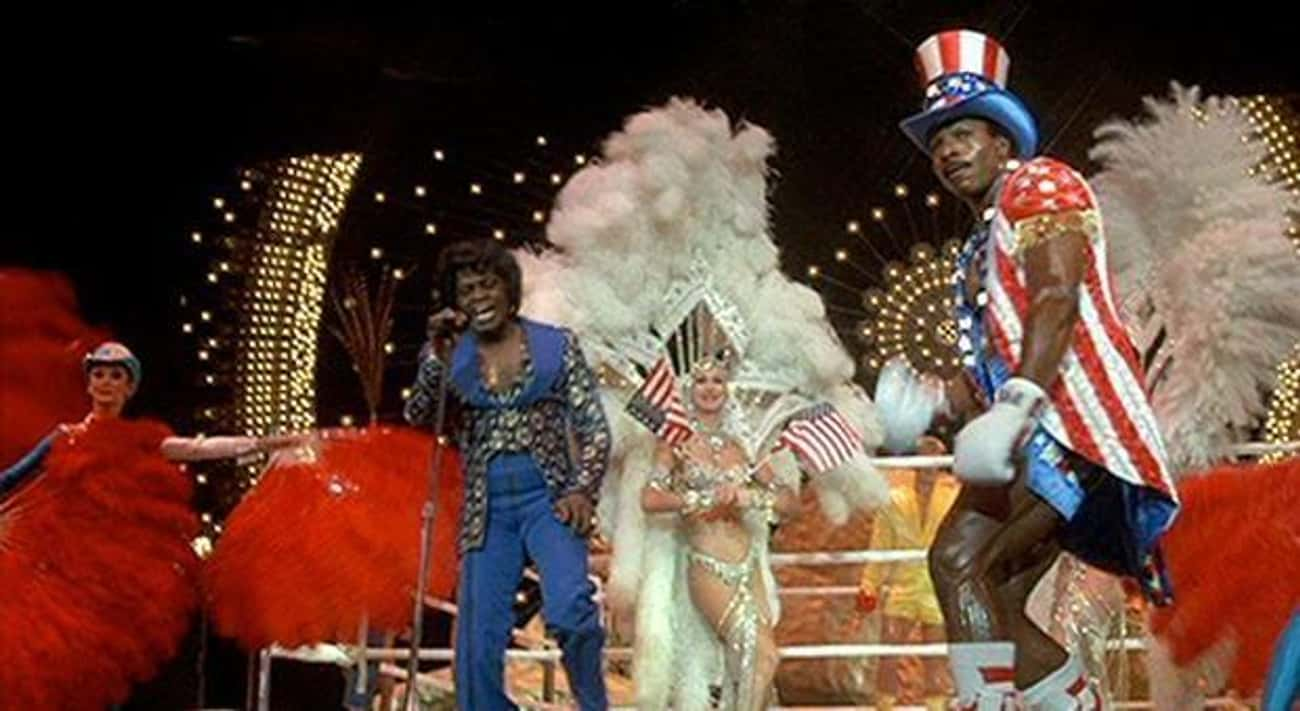 James Brown In 'Rocky IV' is listed (or ranked) 2 on the list The Best Pop Star Movie Cameos