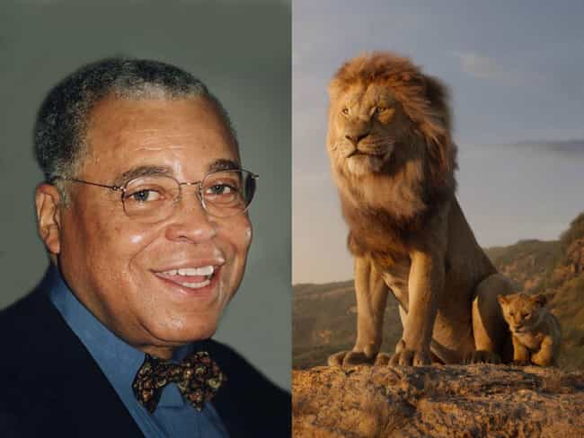 James Earl Jones is listed (or ranked) 3 on the list 'The Lion King' Voice Actors Vs. The Characters They're Voicing