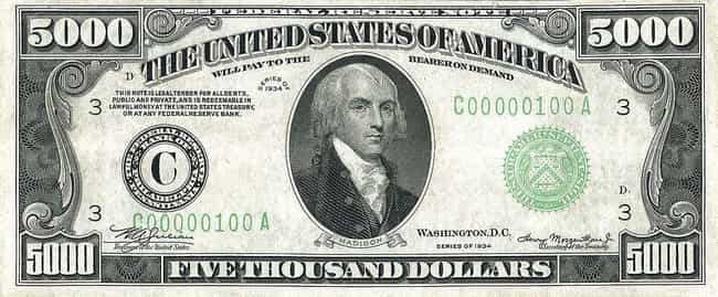 James Madison is listed (or ranked) 3 on the list US Presidents Who Appear On American Money